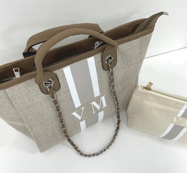 Chanella Chain Bag Beige Gift Set