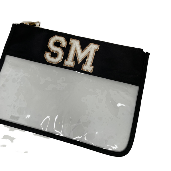 Black Clear Pouch - 2 patches