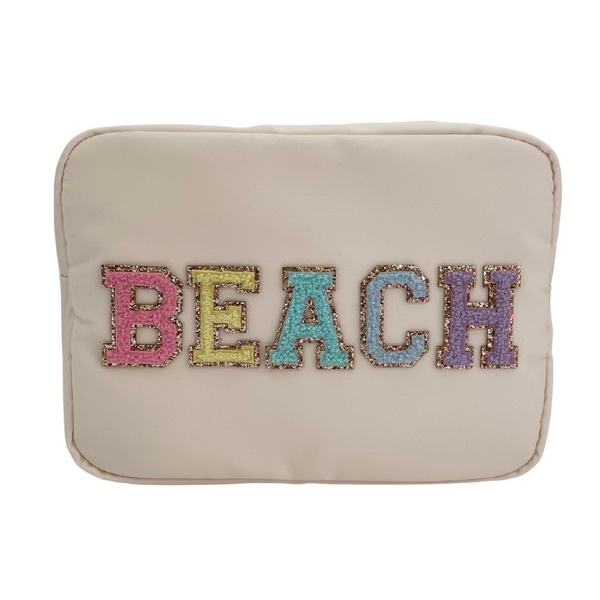 Cream Large Pouch - BEACH