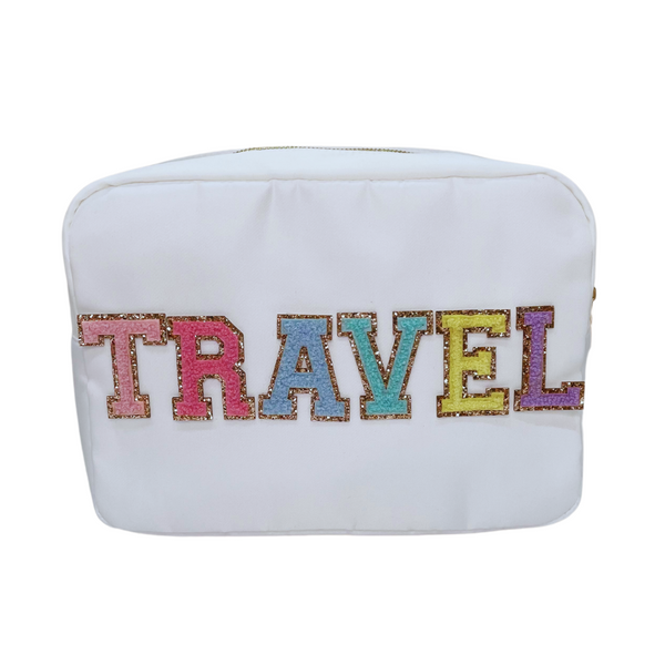 Cream Large Pouch - TRAVEL