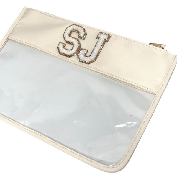 Cream Clear Pouch - 2 patches