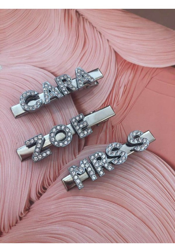 Personalised Crystal Name Hair Clip