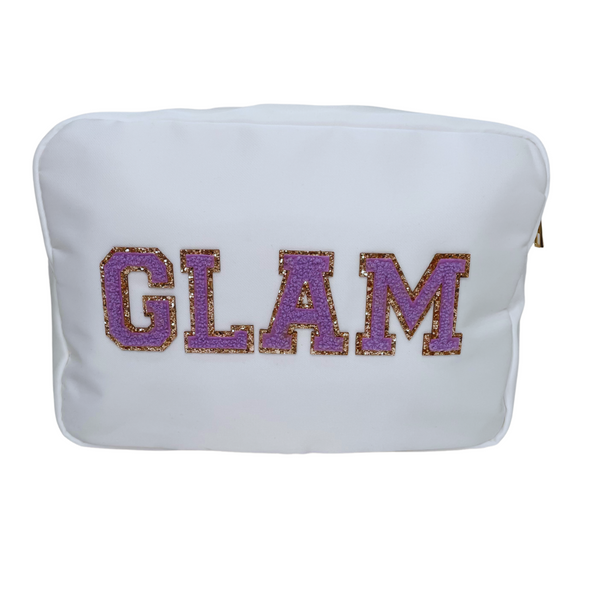 White Large Pouch - GLAM