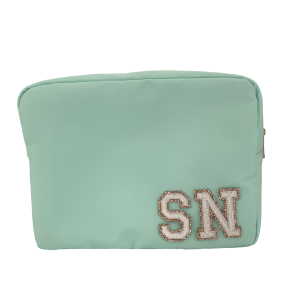 Mint Green Large Pouch - 2 patches