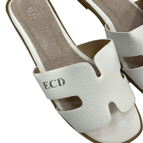 Tanya Lee H Sandals - White