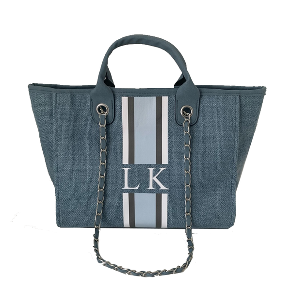 Light Denim Chanella Chain Bag - Trio