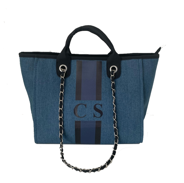 Dark Denim Chanella Chain Bag