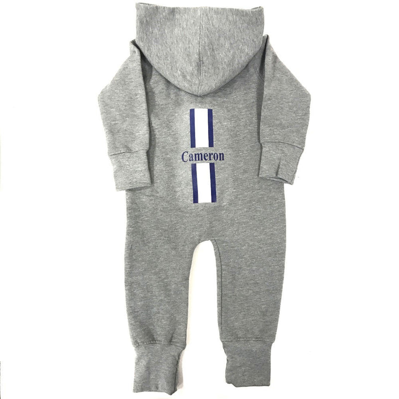 image 1 of Children's Personalised Stripe Onesie