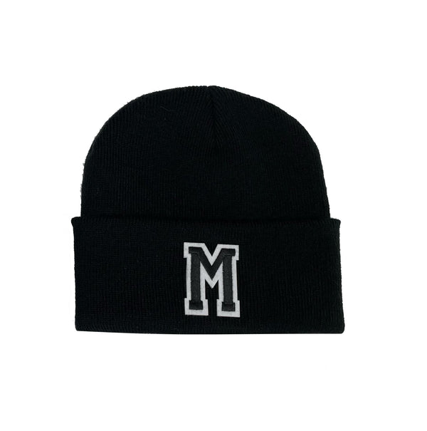Children's Initial Beanie Hat - Black Letter