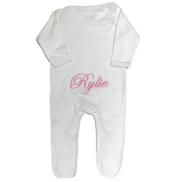 image 1 of Personalised Baby Grow - White