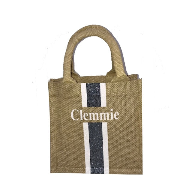 image 2 of Children's GLITTER Personalised Tote Bag