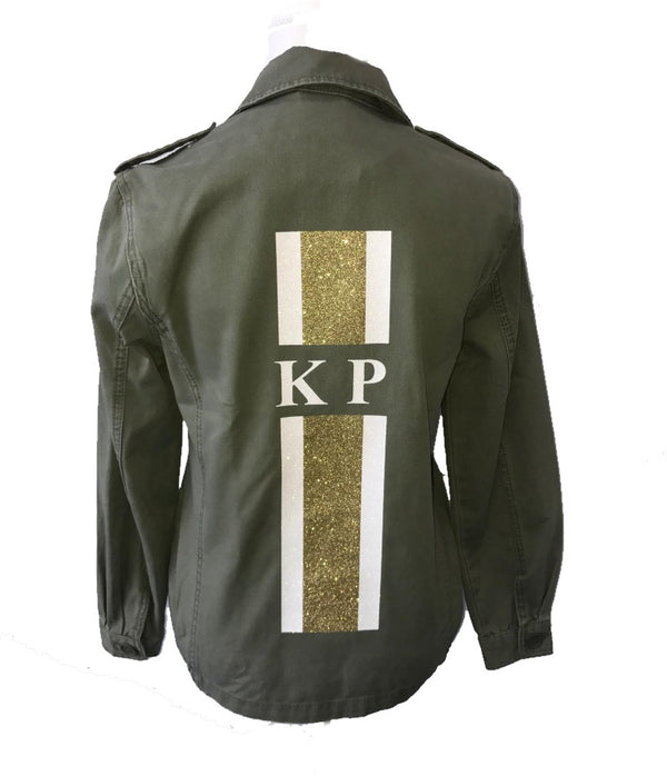 image 1 of GLITTER Personalised Khaki Jacket