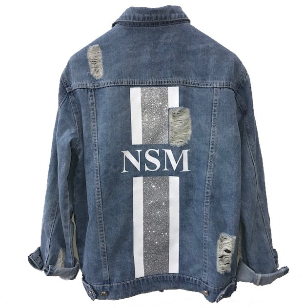 image 1 of Personalised Ripped Denim Jacket