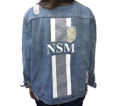 image 2 of Personalised Ripped Denim Jacket