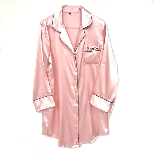 image 1 of Personalised Night Shirt - Baby Pink