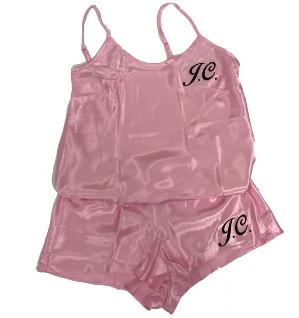 image 1 of Personalised Pajama Set - Baby Pink