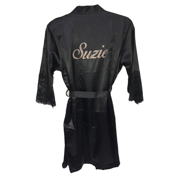 image 1 of GLITTER Personalised Dressing Gown