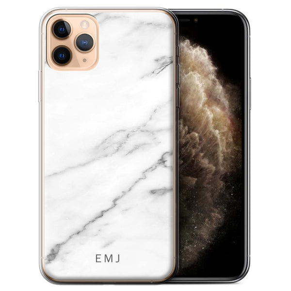 Personalised Phone Case Marble - White V2