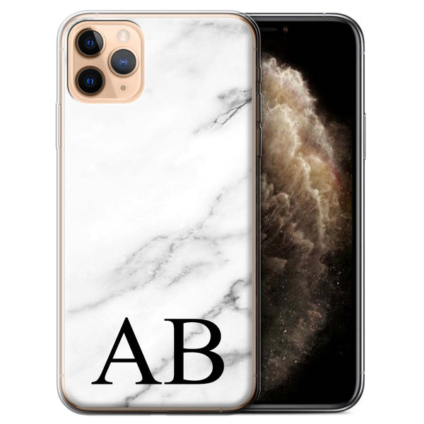 Personalised Phone Case Marble - White V3