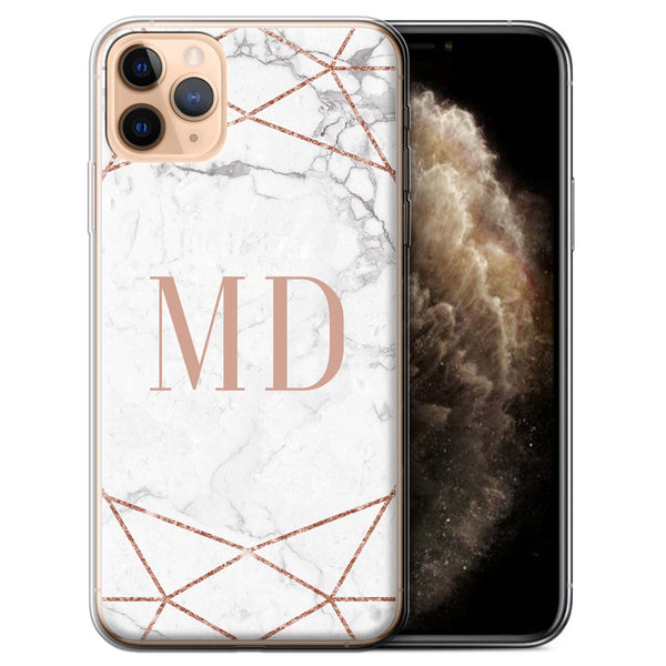 Personalised Phone Case Marble - Rose Gold