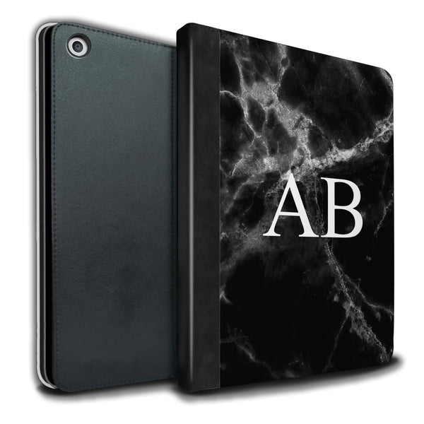 Personalised iPad Case Marble - Black