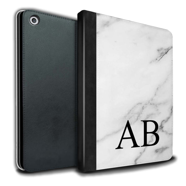 Personalised iPad Case Marble - White