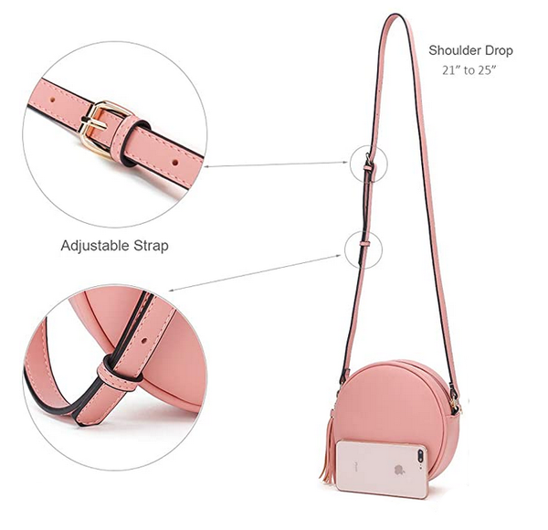 Circle Crossbody Bag - Pink