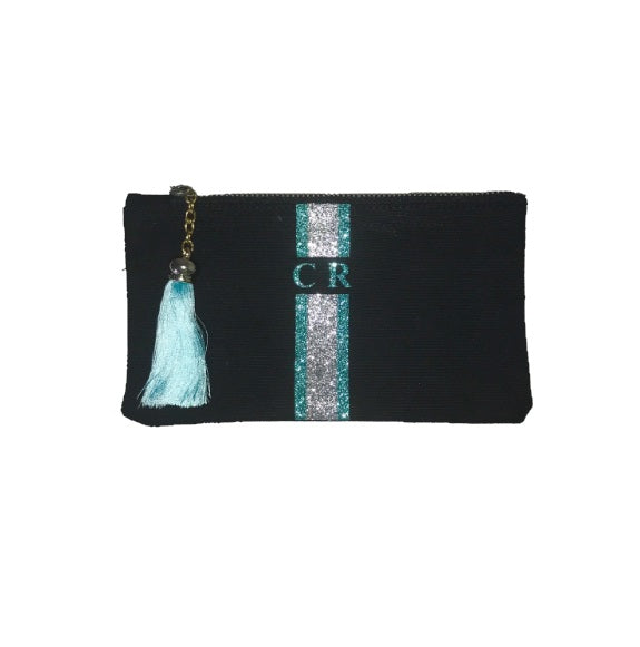 image 1 of GLITTER Personalised Clutch BLACK - Small