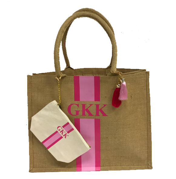 image 1 of Personalised Tote Bag  GIFT SET with Small Make Up Bag