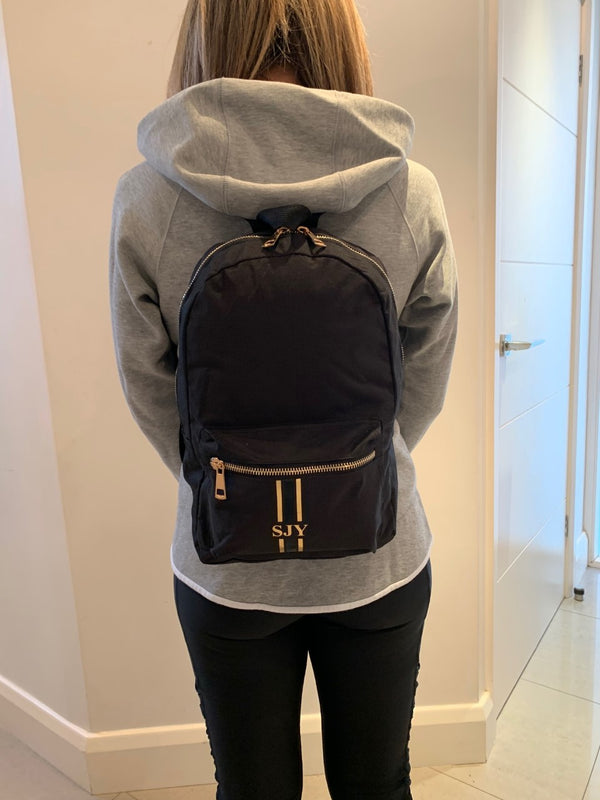 Personalised Mini Backpack - Black