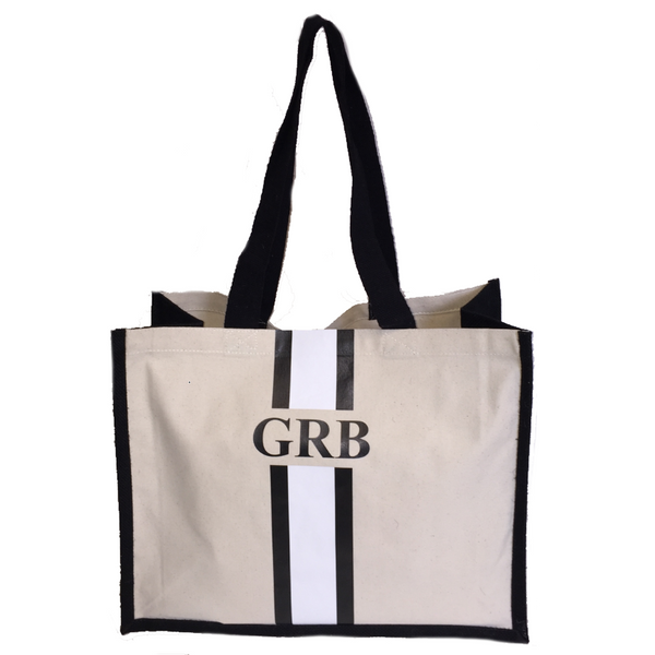 image 1 of Personalised CANVAS Tote Bag Large