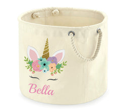 image 1 of Personalised Unicorn Storage Tub