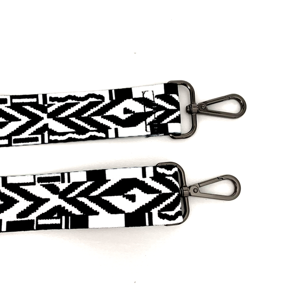 Black Aztec Bag Strap
