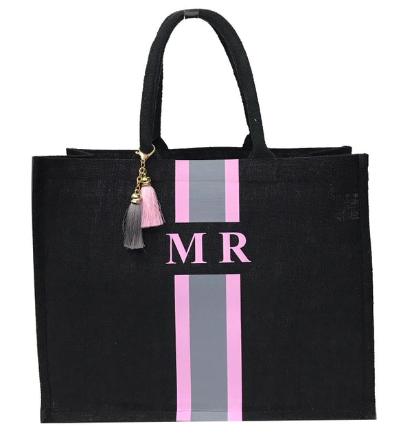 image 1 of Personalised Tote Bag Large - Black