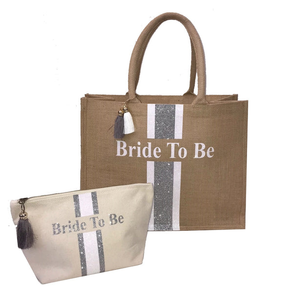 image 1 of Bride To Be Tote Bag & Make Up Bag