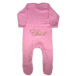 image 1 of Personalised Baby Grow - Pink