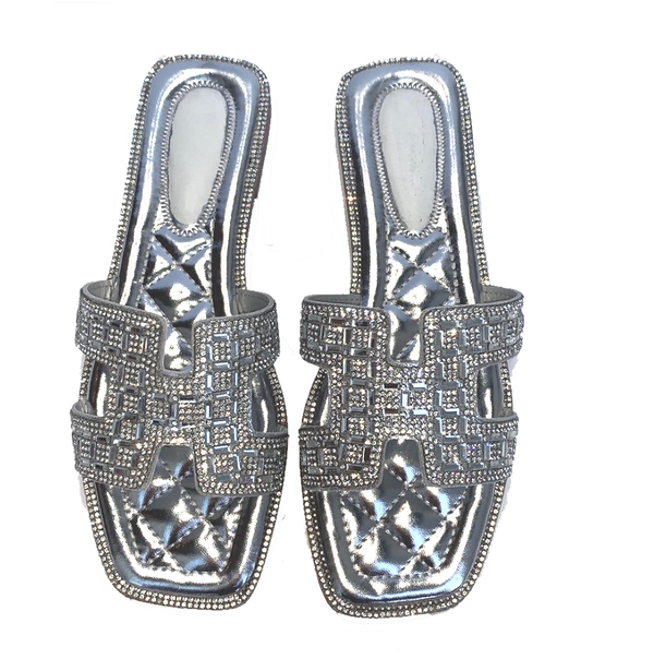Tanya Lee H Sandals - Silver Crystal