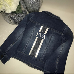 image 1 of Children's Personalised Glitter Denim Jacket