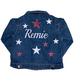Baby Glitter Stars Denim Jacket