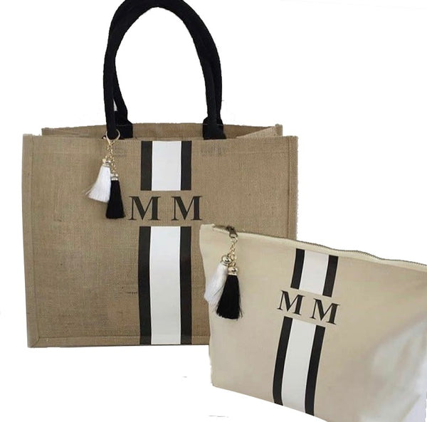 image 1 of Personalised Gift Set Tote Bag Large and Large Make Up Bag