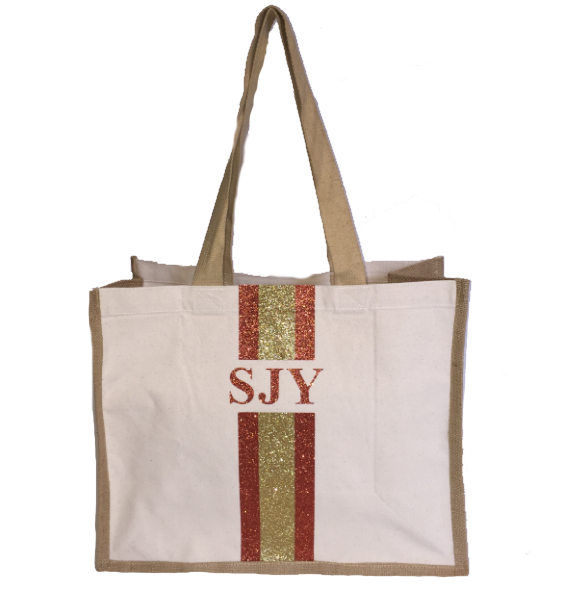 image 1 of GLITTER Personalised Canvas Bag - Large