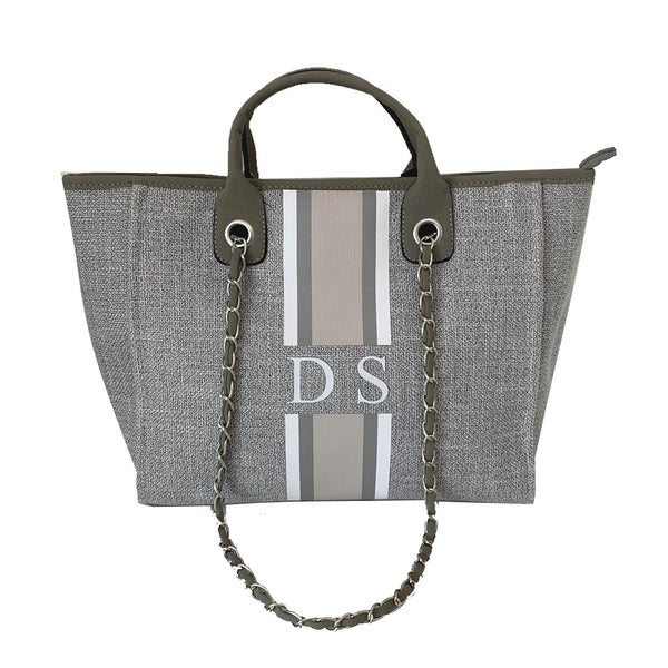 PRE ORDER Chanella Chain Bag Trio - Grey