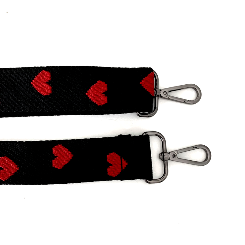 PRE ORDER Black Heart Bag Strap - delivery January