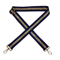 Navy and Gold Stripe Bag Strap