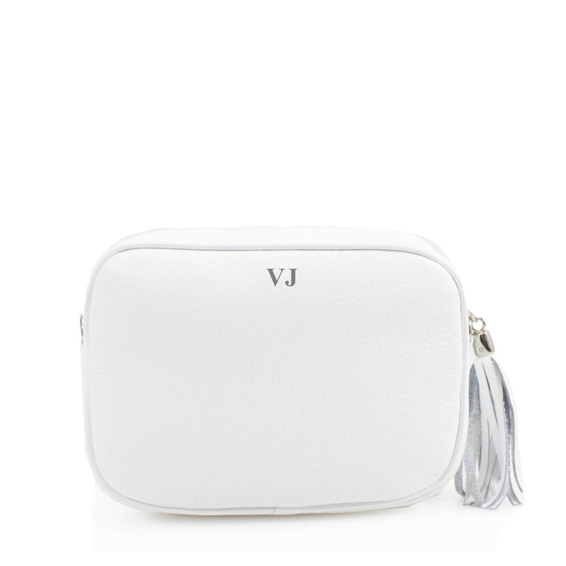 Leather Crossbody Bag - White