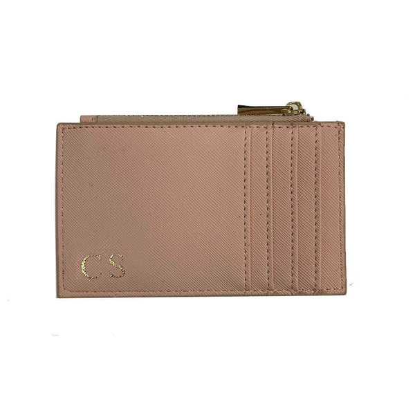 Zip Personalised Card Holder - Nude