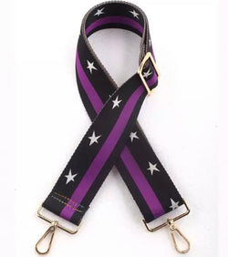 Purple Stars Bag Strap