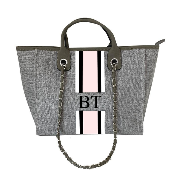 Chanella Chain Grey Bag Trio - V2