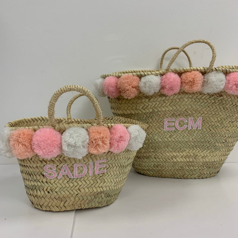 Gift Set Peaches Embroidered Basket Set
