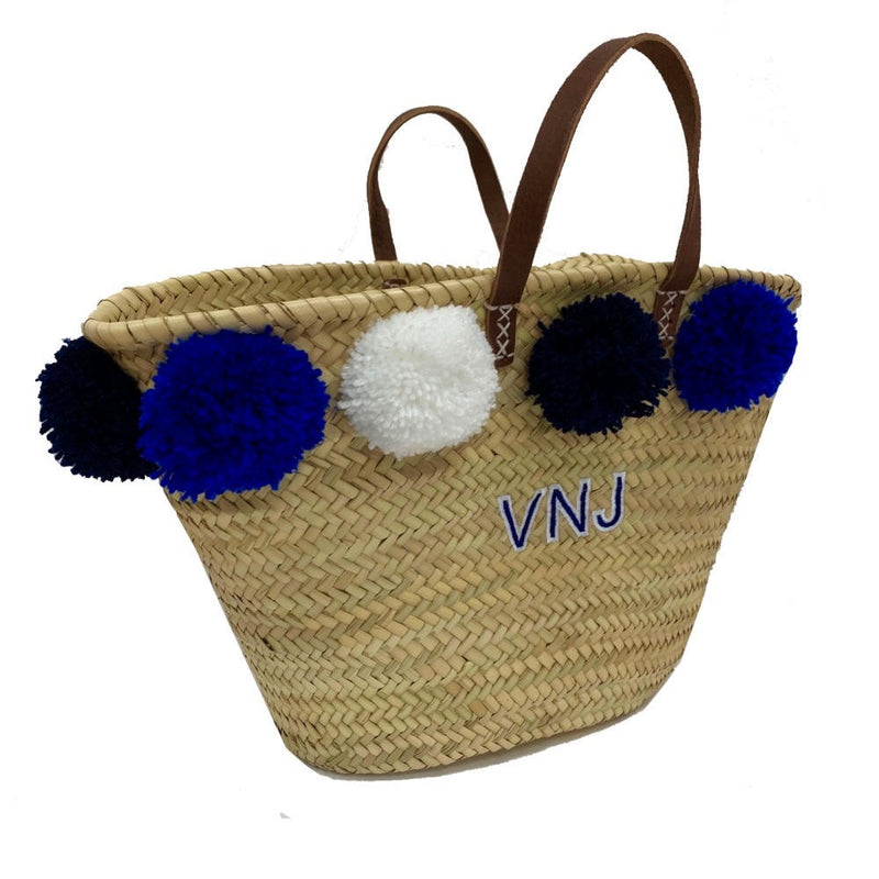 Blue Trio Embroidered Basket